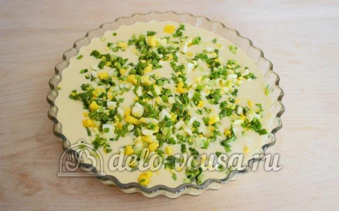 Рецепт пирога с луком и яйцом заливной