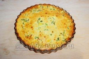 Заливной пирог с зеленым луком и яйцом: Выпекаем до готовности