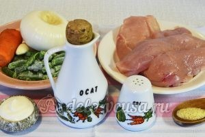 Куриный рулет с овощами: Ингредиенты