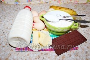 Блины с бананом и шоколадом: Ингредиенты