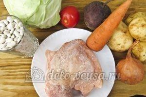 Красный борщ с фасолью: Ингредиенты