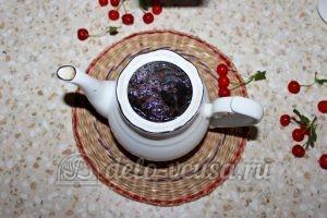 Чай с вишней: Залить кипятком