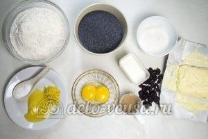 Дрожжевой рулет с маком: Ингредиенты