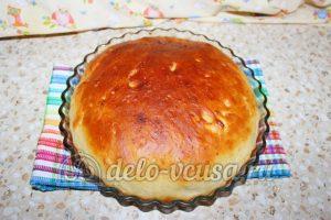 Дрожжевой пирог с малиной: Выпекать пирог