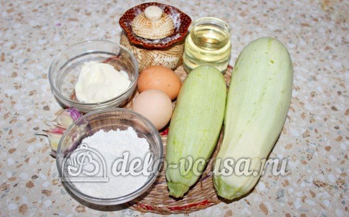 Кабачки жареные в кляре: Ингредиенты