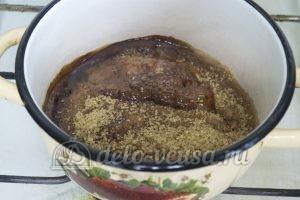 Карамельные трюфели: Растопить сахар