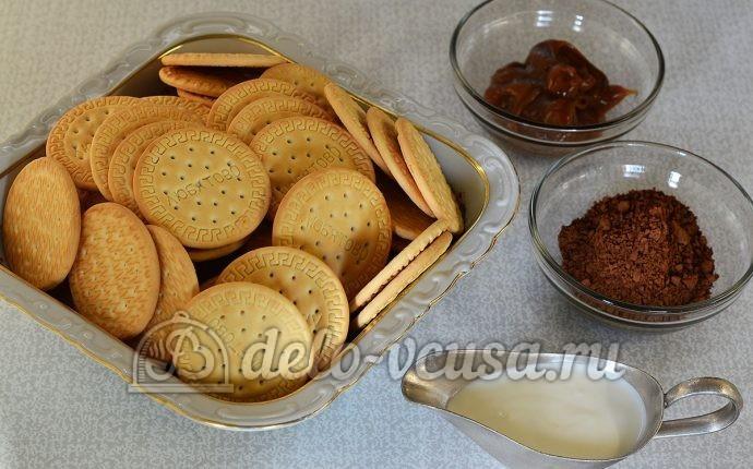 Сладкая колбаска с вареной сгущенкой: Ингредиенты