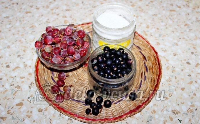 Компот из смородины и крыжовника: Ингредиенты