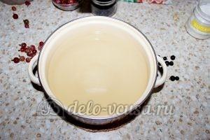 Компот из смородины и крыжовника: Наливаем воду в кастрюлю