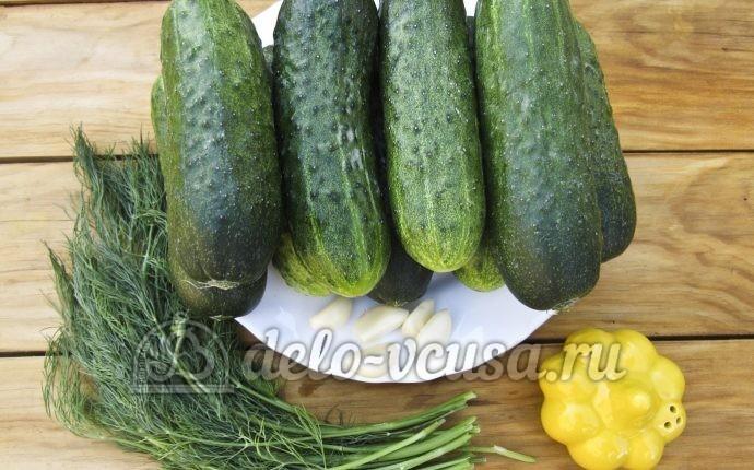 Малосольные огурцы в пакете: Ингредиенты