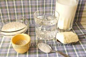 Молочный суп с рисом: Ингредиенты