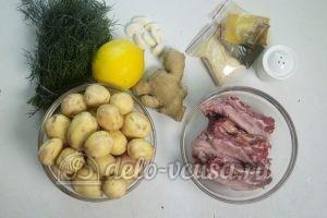 Запеченный картофель с ребрышками: Ингредиенты