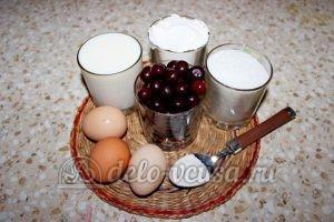 Пирог с вишней на кефире: Ингредиенты