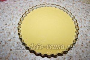 Пирог с вишней на кефире: Перелить тесто в форму