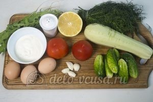 Салат с жареными кабачками: Ингредиенты