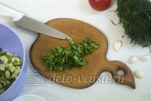Салат с жареными кабачками: Рвем рукколу