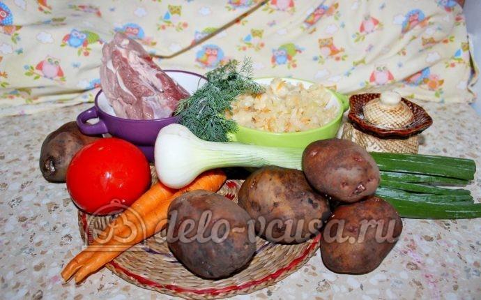 Щи из квашеной капусты в мультиварке: Ингредиенты