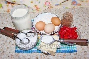 Шоколадный торт с малиной: Ингредиенты