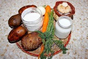 Овощной суп с клецками: Ингредиенты