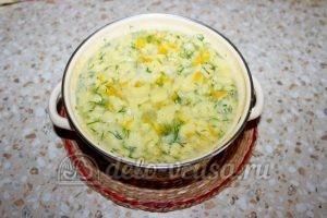 Овощной суп с клецками: Снимаем суп с плиты