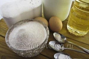 Ванильные блины: Ингредиенты