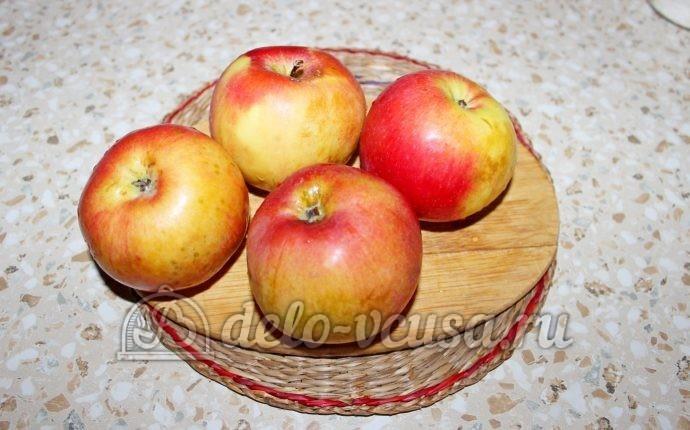 Заготовка из яблок для пирогов: Вымыть яблоки