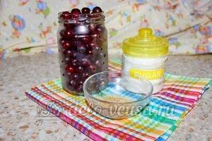 Вишневый джем с желатином: Ингредиенты