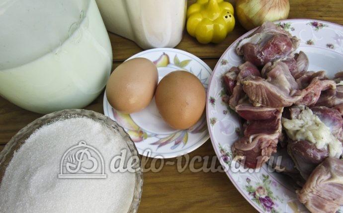 Блинчики с куриными желудками: Ингредиенты