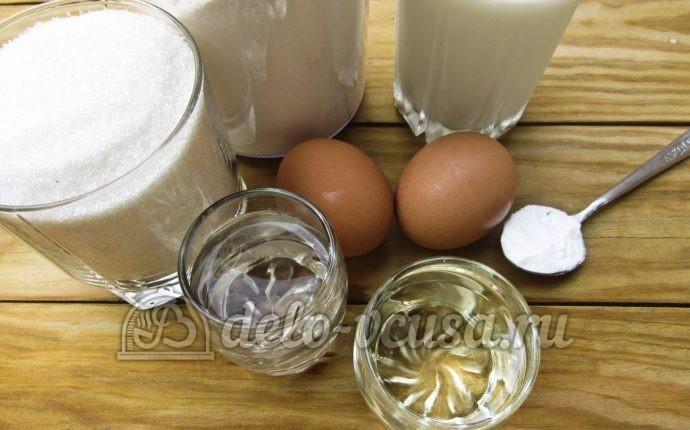 Блины на молоке с содой: Ингредиенты