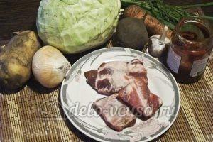 Борщ в горшочке: Ингредиенты
