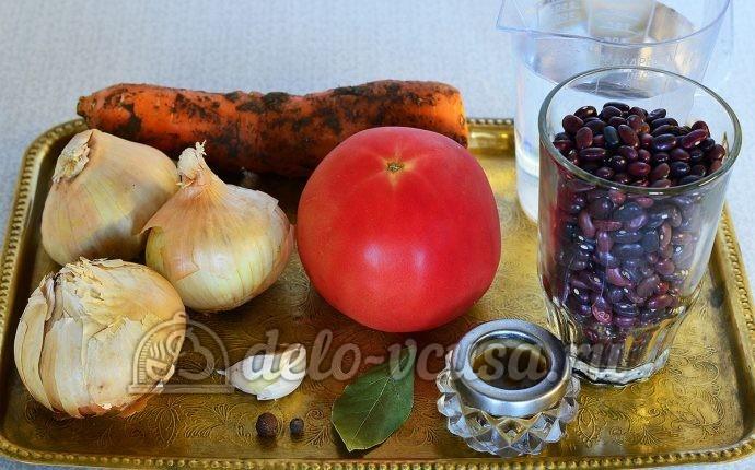 Фасоль тушеная с овощами: Ингредиенты