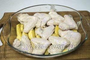Куриные крылышки с картошкой в духовке: Выпекаем до готовности