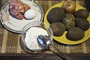 Картофельные драники с мясом: Ингредиенты