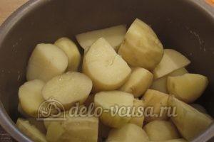 Молодая картошка в мультиварке: Слить воду
