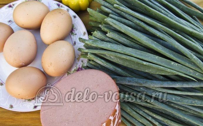 Оладьи из зеленого лука: Ингредиенты