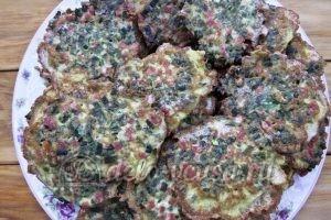 Оладьи из зеленого лука: Дожариваем все оладьи