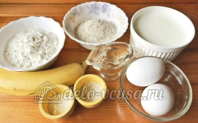 Овсяные оладьи с бананом: Ингредиенты