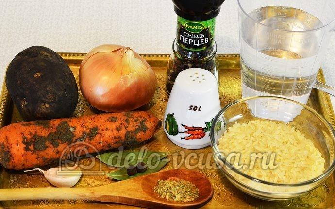 Рисовый суп без мяса: Ингредиенты