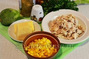Салат из редьки с курицей: Ингредиенты