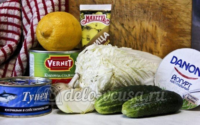 Салат с тунцом и пекинской капустой: Ингредиенты