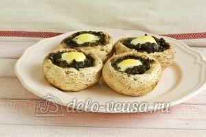 Фаршированные шампиньоны с перепелиными яйцами: Готовим 10 минут
