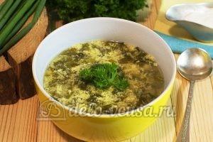 Щавелевый суп без мяса