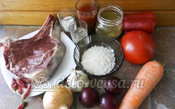 Суп харчо из говядины: Ингредиенты