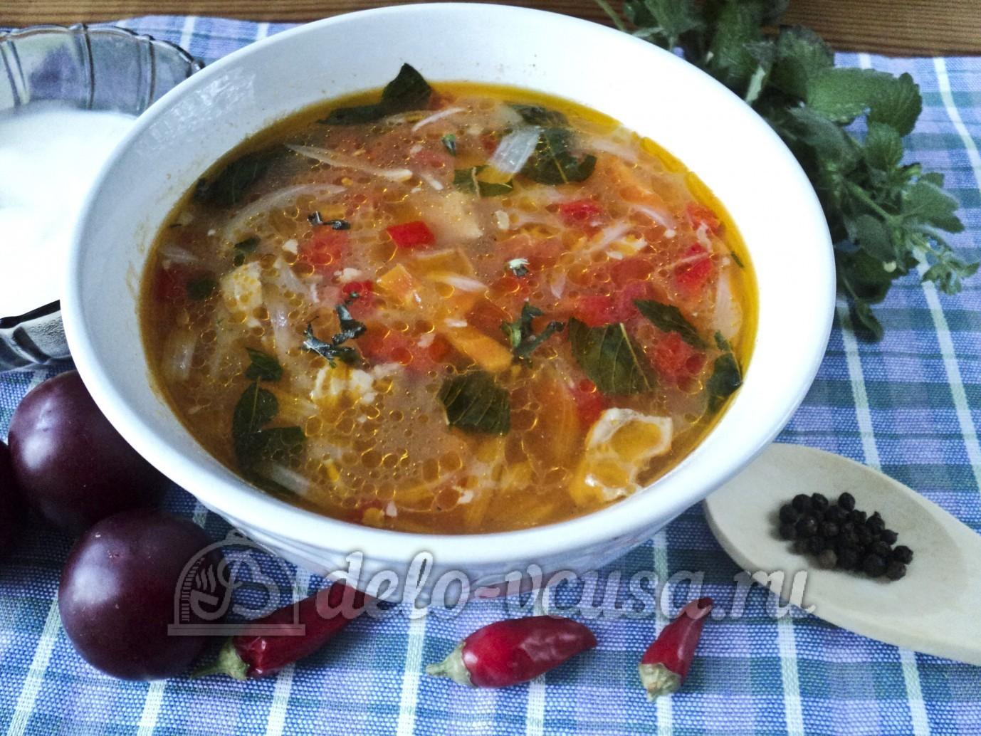 Суп харчо с фаршем пошаговый рецепт с