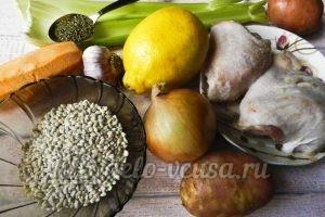 Куриный суп с перловкой: Ингредиенты