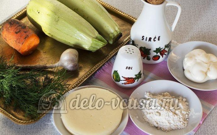 Закуска из кабачков с сыром и чесноком: Ингредиенты