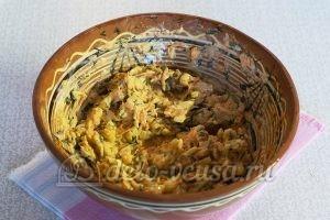 Закуска из кабачков с сыром и чесноком: Все перемешать