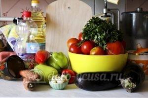 Бакат из баклажанов: Ингредиенты
