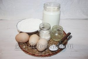 Блины на простокваше: Ингредиенты