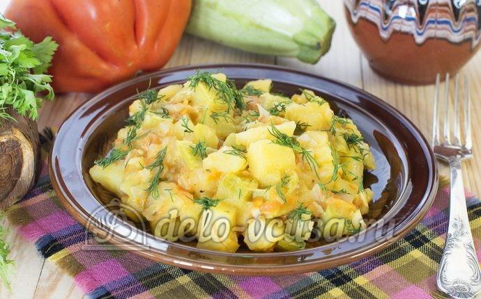 Рецепт овощное рагу с кабачками и картошкой